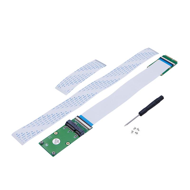 Mini PCI-e PCI Express mSATA Extension Cable fr Wireless Card SSD With FFC Cable pci