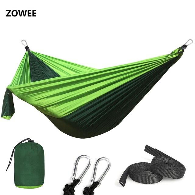 1 2 personnes dormant Parachute hamac chaise Hamak jardin balançoire suspendu extérieur Hamacas Camping hamac