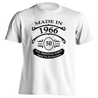 50th Birthday Gift T-Shirt Born In 1966 Vintage Aged 50 Years To Perfection Short Sleeve Mens T Shirt Funny O-Neck Tshirt