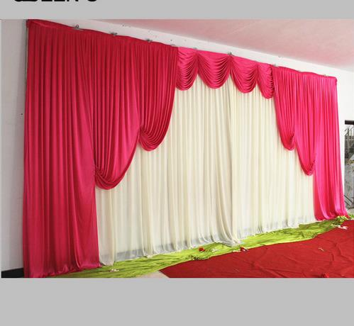 Fashion New Romantic White and Hot Pink Popular Customade Color Wedding Backdrops 20ft (w) x 10ft (h) for wedding decorationFashion New Romantic White and Hot Pink Popular Customade Color Wedding Backdrops 20ft (w) x 10ft (h) for wedding decoration