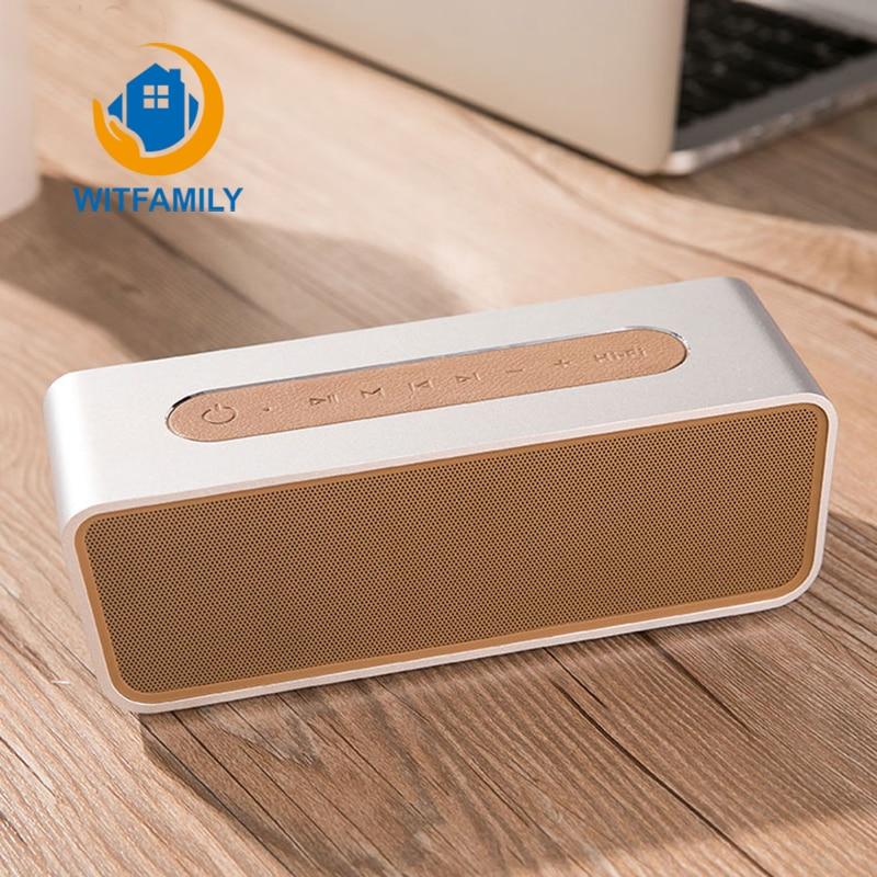 Bluetooth Динамик Будильник FM Радио стерео 8 часов Перезаряжаемые Батарея Hands Free w/MIC светодиодный Дисплей Micro sd слот aux Вход