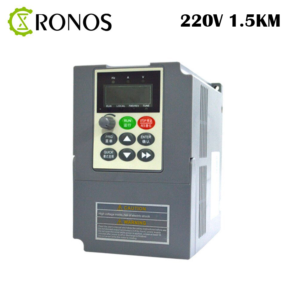 220V 1.5KW 7A Single Phase input and 220V 3 Phase Output Frequency Converter / AC Motor Drive / Frequency Inverter / VFD/ VSD k