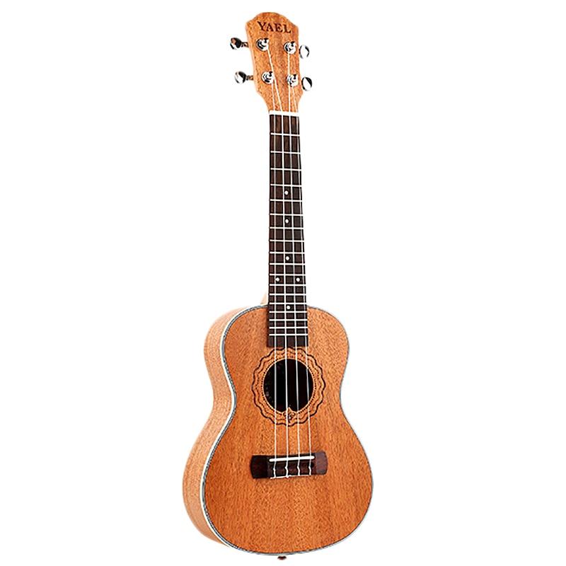 Yael 23 Inch Concert Ukulele 4 String Hawaiian Mini Guitar Uku Acoustic Guitar Ukulele Mahogany Rosewood