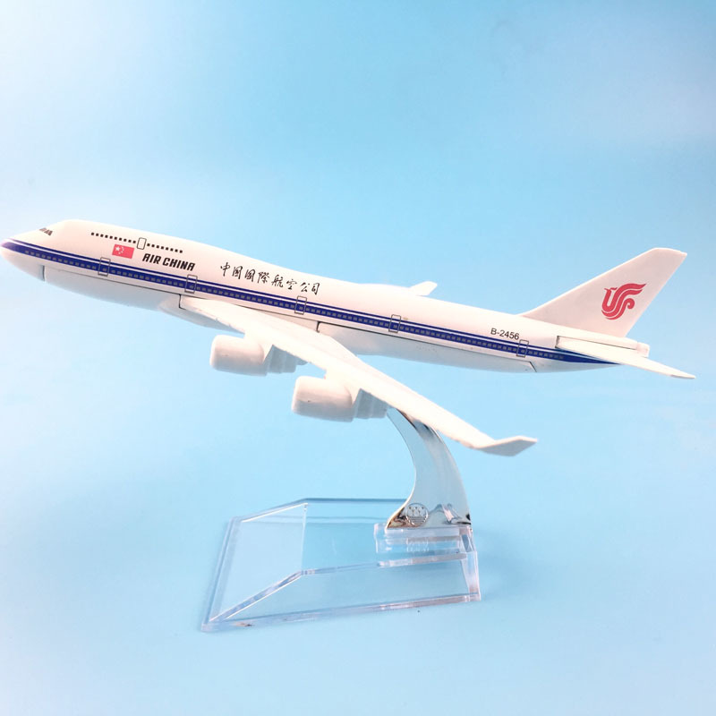 JASON TUTU 16cm Plane Model Airplane Model Air China Boeing 747-400 Aircraft Model 1:400 Diecast Metal Airplanes Plane Toy Gift
