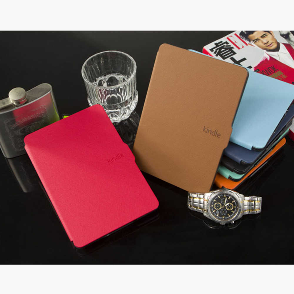 Серебряная Ссылка умный защитный чехол для Amazon Kindle 8 чехол 8-го поколения E-reader 2016 pu кожаный чехол Авто Пробуждение/сон KC0008