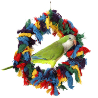 PET Bird Parrot Juguetes gran colorido algodón cuerdas anillo Bird hamaca swing Juguetes colgando masticar juguete