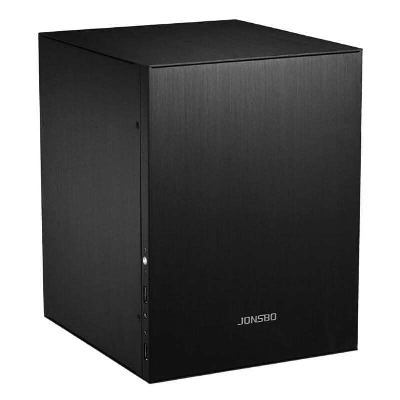 Jonsbo C2 Mini ITX boîtier aluminium coque d'ordinateur ordinateur de bureau châssis argent/noir