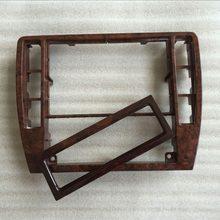 Quadro de madeira de cereja para vw passat b5, 2 peças, decoração central de painel de cd caixa de madeira para ar condicionado 3b0 858 069 1j0 907 047 n