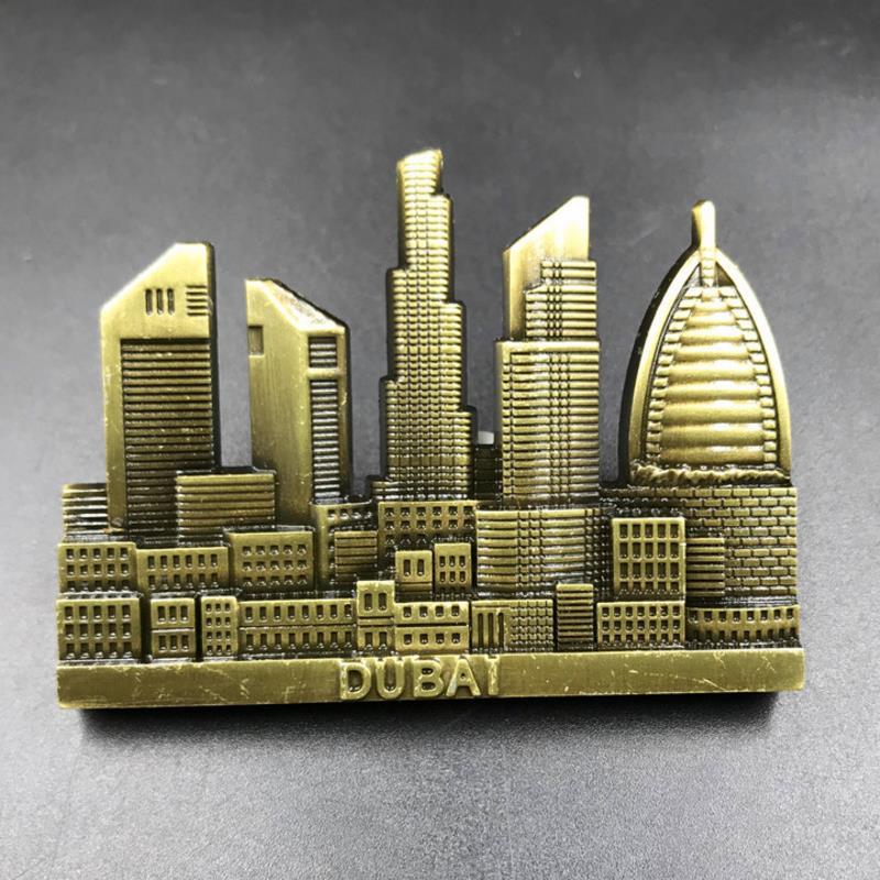 Ornamente Lychee Leben Dubai Scenic Kühlschrank Magnet Cartoon Landschaft Kühlschrank Magnetischen Aufkleber Moderne Diy Küche Zu Hause Dekoration Geschenk Wohnkultur