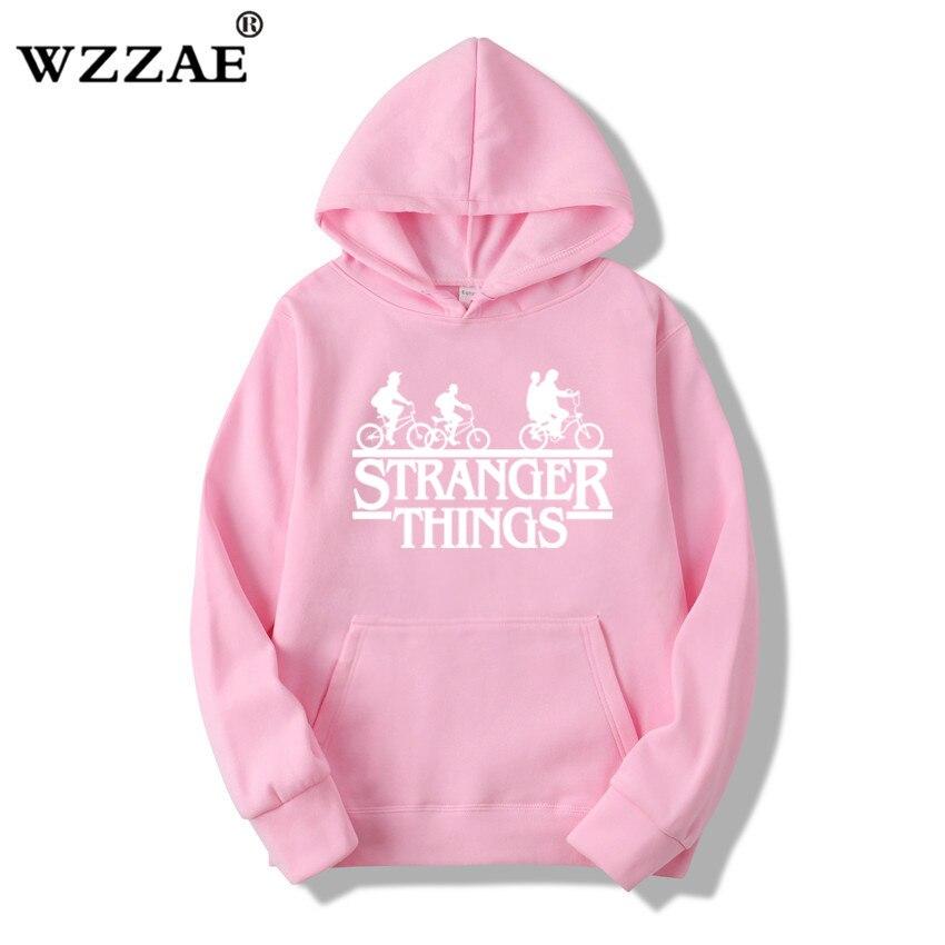 Trendy Faces Stranger Things Hooded Hoodies and Sweatshirts 34