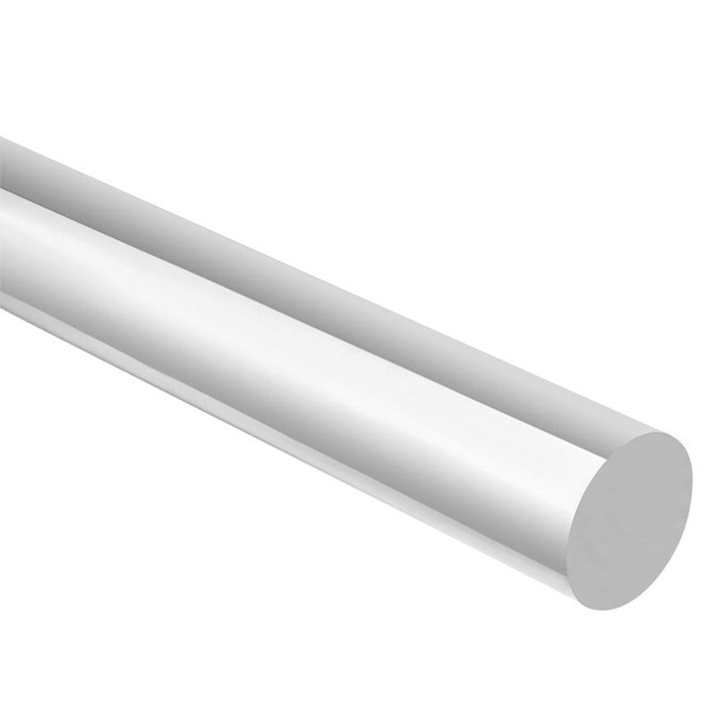 ELEG-Acrylic Rod Round Pmma Bar 0.47 Inch Dia 10 Inch Length Clear 2Pcs