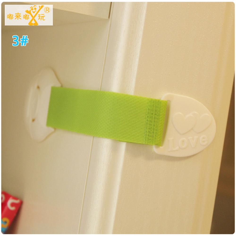 Замок холодильника блокирующий замок для шкафа Детские Детская безопасность замок ABS ящики уход за младенцем дома Творческий холодильник для детей - Цвет: green