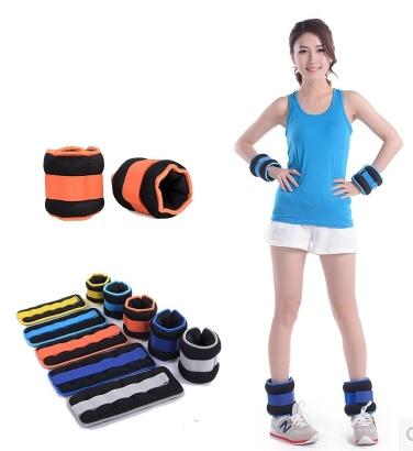 ФОТО 1KG/Pcs*2  Invisible Running Legging Sandbag Adjustable Iron Sand Bag Muscle Training Equipment For Children / Adult