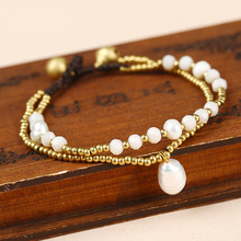 Nature Pearl Ethnic Anklet