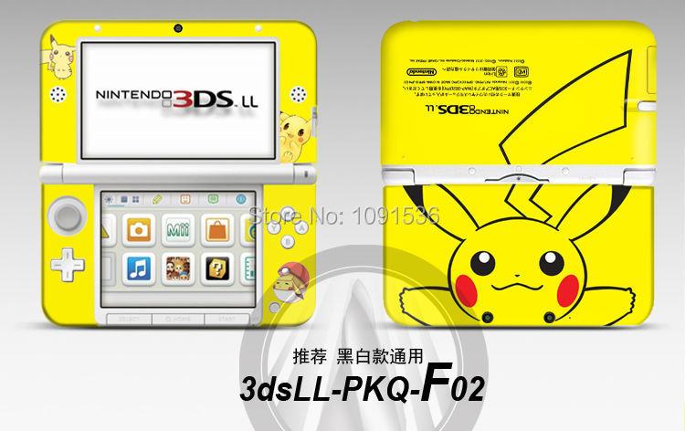 Pikachu front back vinyl decal skin sticker case cover for for 3ds xl pikachu achat