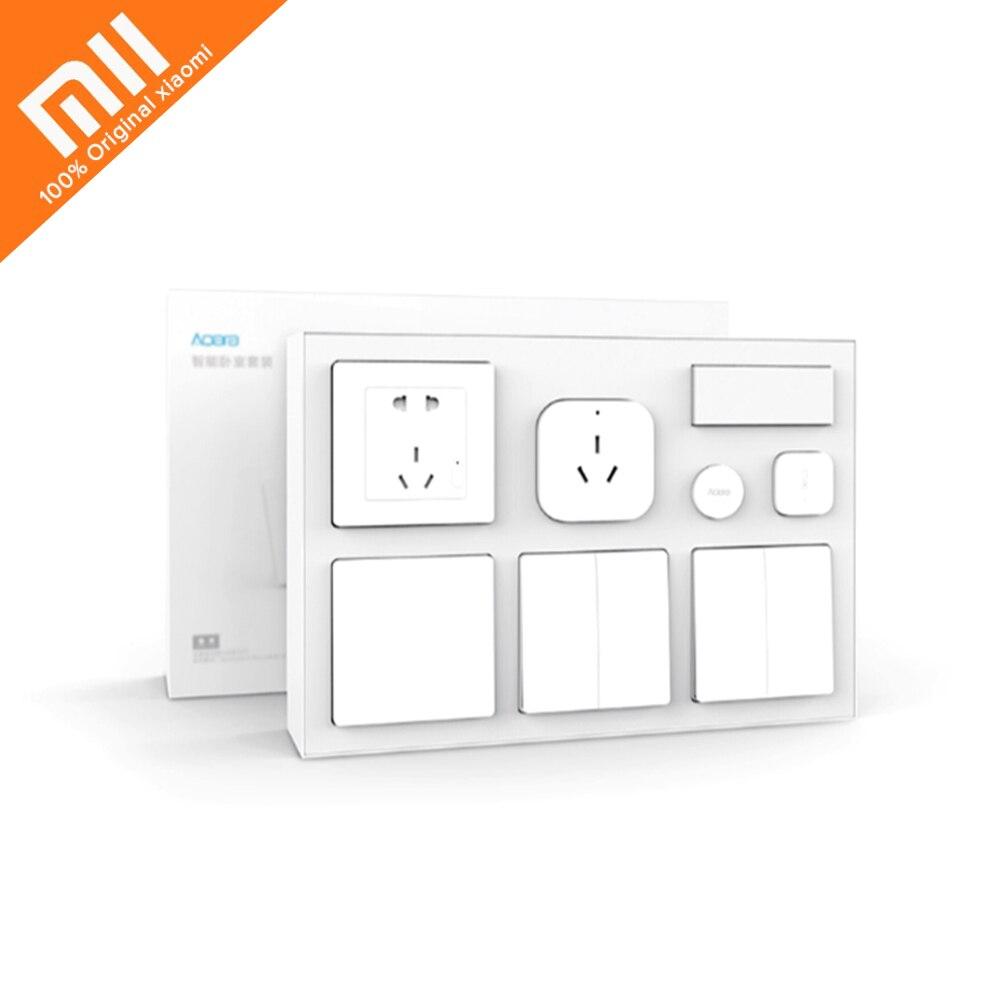 Kit Aqara conditionneur intelligent Mate + capteur de température et d'humidité + capteur de corps + prise murale + interrupteur mural + interrupteur sans fil