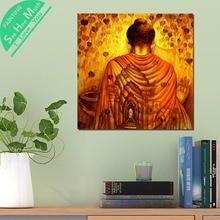 Лучший!  1 Шт. Обои Золотой Будда HD Печатных Холст Wall Art Плакаты и Принты Плакат Живопись Оформление  Лучший!