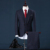 (Chaqueta + Pantalones + Chaleco) de Tweed A Cuadros Traje de Hombre Caballero de Época Clásica Boda Formal Desgaste Flaco Mens Navy traje Con Pantalones M-3XL