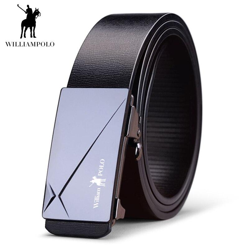41f9ba0f4afba WILLIAMPOLO hommes ceinture en cuir véritable de luxe de mode de haute  qualité automatique boucle classique
