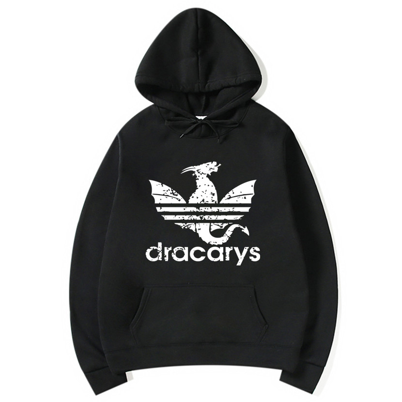 Dracarys Vintage Style Hoodie Game Of Thrones Daenerys Drogon Fire Printed Hoody Sweatshirt For Man Woman Fleece Jumper Pullover