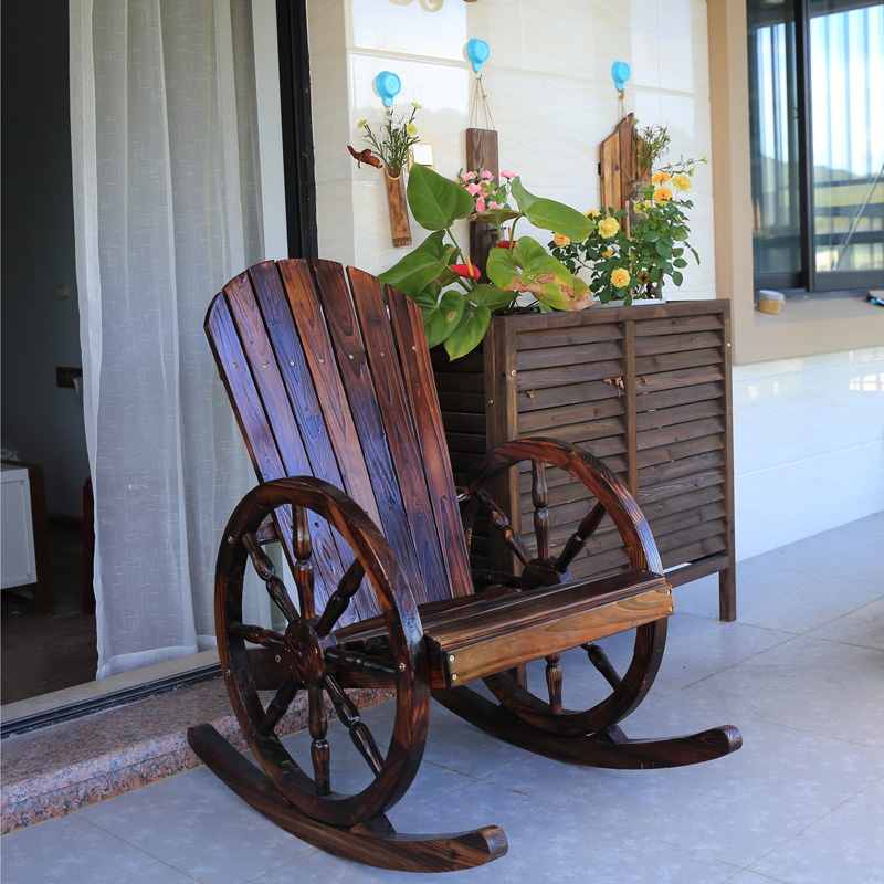 Wagon Wheel Rocking Chair The Wagon