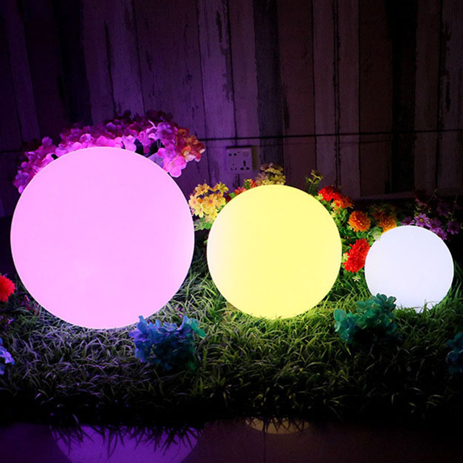 Hot Sale High Solar Power LED Ball Lamp Color Changing/Steady RGB Light Rechargeable Pool Garden Decor Light LG66