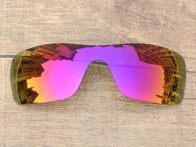 Púrpura Rojo Espejo Polarizado Lentes De Repuesto Para Batwolf Marco de Gafas de sol 100% protección UVA y Uvb