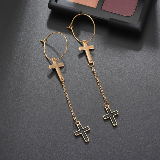 Vintage New Silver Cross Dangle Earrings Long Handmade Crystal Stone Drop Earrings For Women Girls Drop.jpg 640x640 - Vintage New  Silver Cross Dangle Earrings Long Handmade Crystal Stone Drop Earrings For Women Girls Drop Shipping