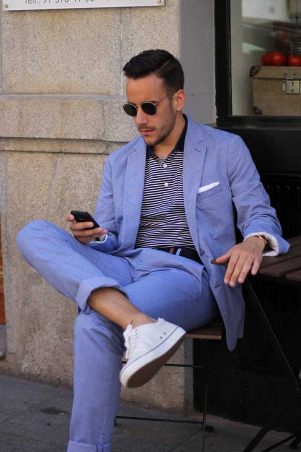 Popular Blue Linen Suit-Buy Cheap Blue Linen Suit lots from China ...