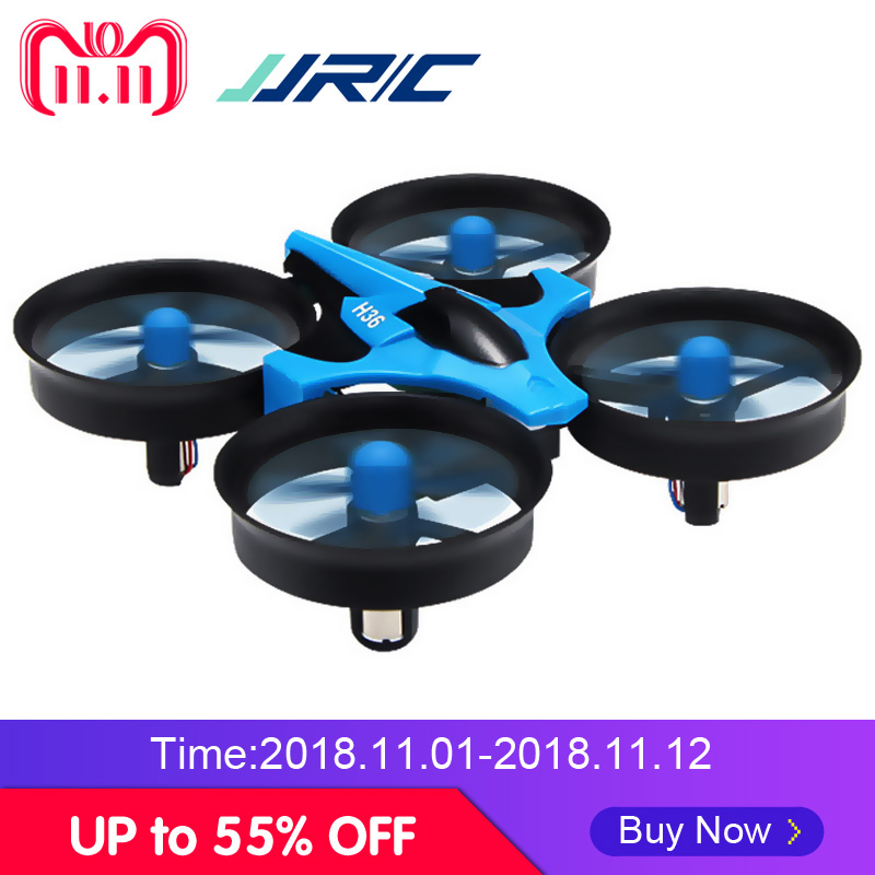 цена JJRC H36 Mini Drone Quadcopter 3D Flip Headless Mode One Key Return RC Helicopter Drones VS JJRC H8 Mini Dron Best Toys For Kids