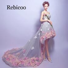 2019 new tube top short long shoulder romantic petals sweet noble temperament skirt