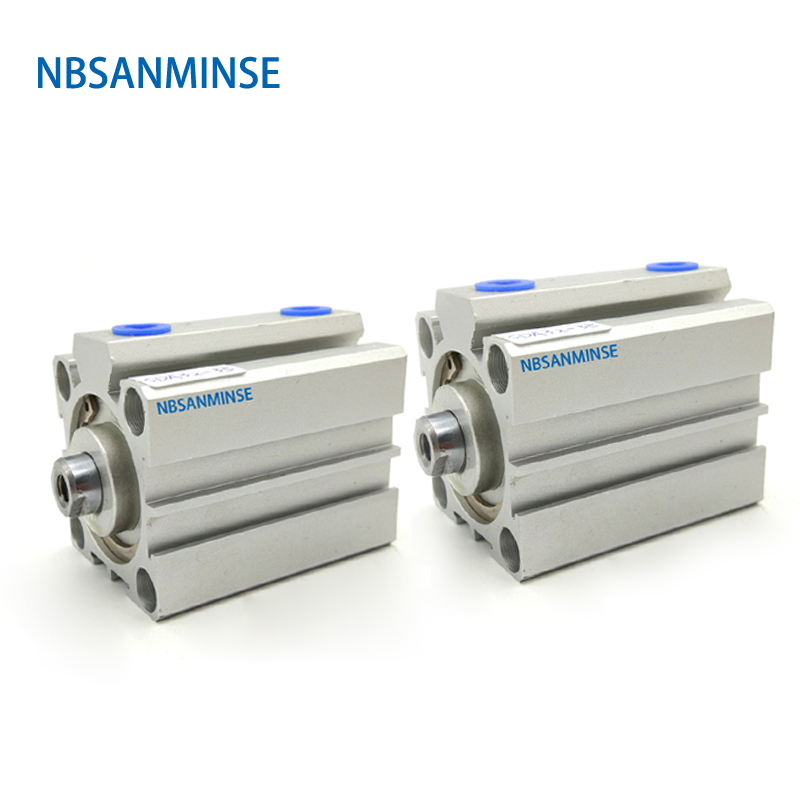 NBSANMINSE SDA With Magnet 25mm Compact Cylinder AirTAC Type Double Acting  Pneumatic