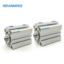 NBSANMINSE SDA With Magnet 25mm Compact Cylinder AirTAC Type Double Acting  Pneumatic Cylinder airtac type cylinder ma16 175s cm mini pneumatic cylinder double acting 16 175mm accept custom