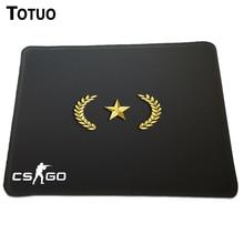 Authentic Design CS GO Gold Nova Rank Brand Gaming Mousepad Anti-Slip PC Laptop computer Pc Mice Pad Lock Edge Pace Mouse Pad