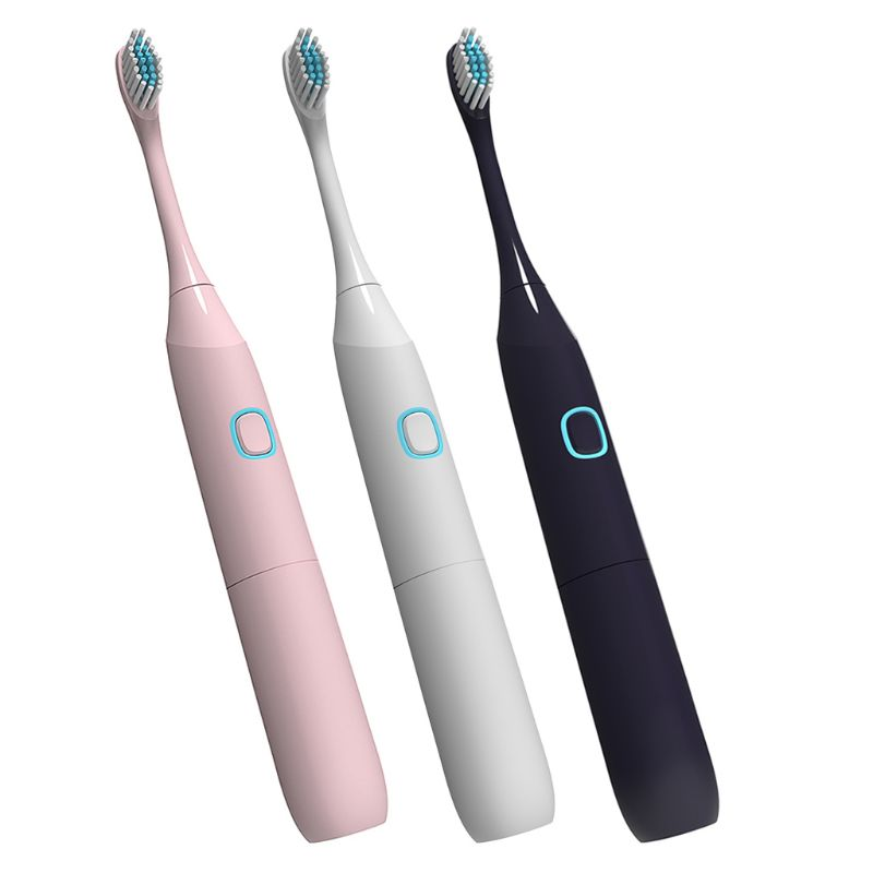 Electric Toothbrush Sonic Timer Battery Powered Brush Head Replacement Waterproof Adult Children Home Travel A0416 image