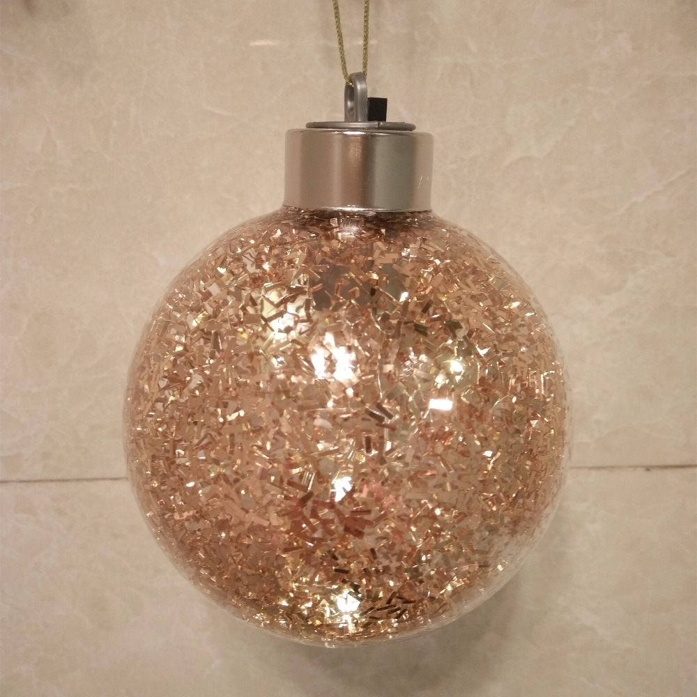 diameter8cm 10cm 12cm bronze christmas glass globe gold lighting christmas tree decorations mall holiday party window props