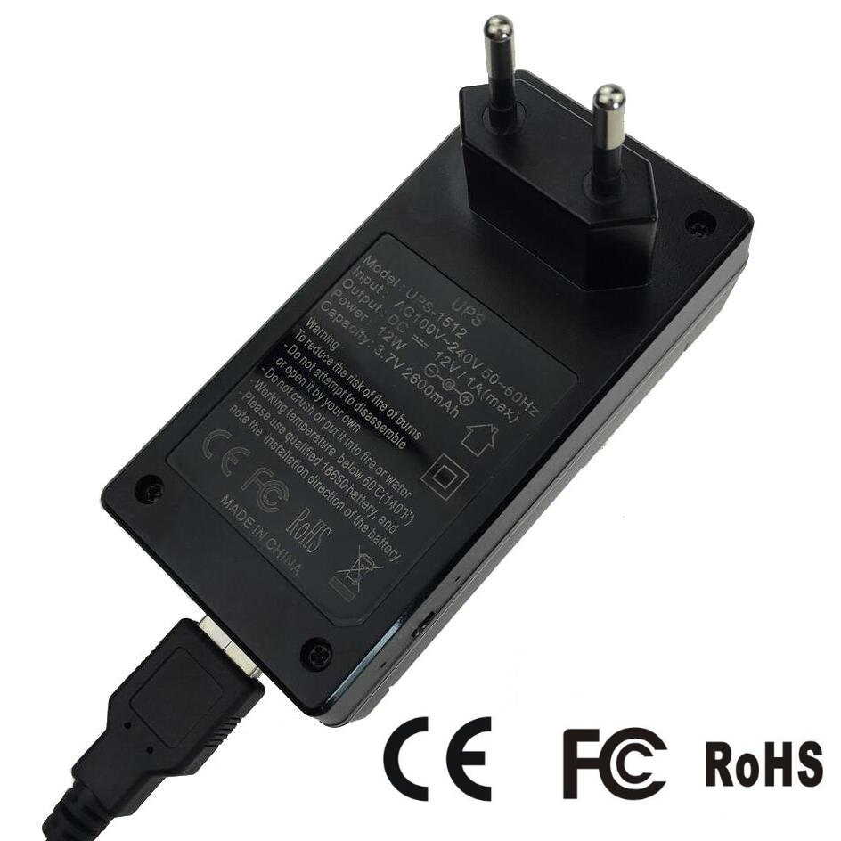12V1A AC to DC Mini Adapter Uninterrupted Power Supply UPS Provide Emergency Power Backup to <font><b>CCTV</b></font> Camera with <font><b>Battery</b></font> Built-in