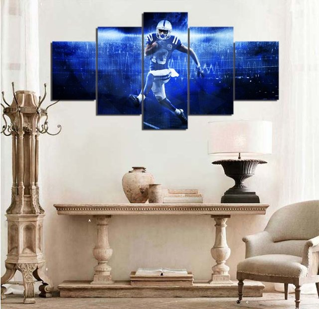 Indianapolis Colts T.Y. HILTON Canvas Painting Wall Art 5 Pieces ...
