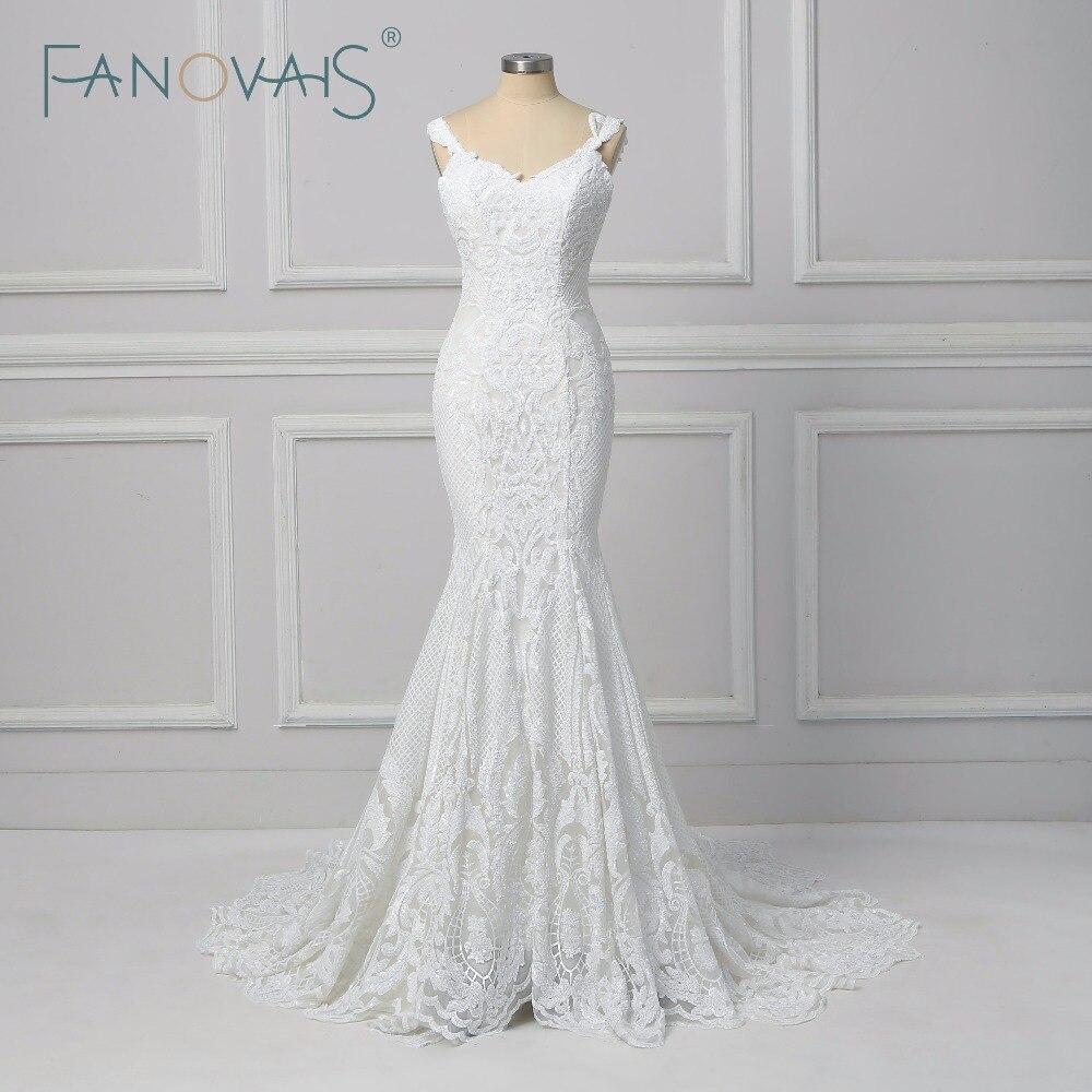 Detail Feedback Questions about Vintage Lace Mermaid Wedding Dress Vestido  de Novia 2018 Backless Wedding Gowns robe de mariee Turkey Bride Gowns on  ... 89b9b7ff93be