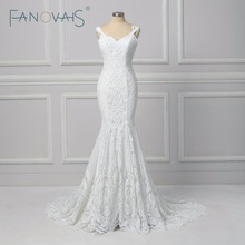 Vintage Lace Mermaid Wedding Dress Vestido de Novia  2019 Backless Wedding Gowns robe de mariee Turkey Bride Gowns