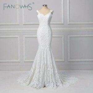 Image 1 - Vintage Lace Mermaid Wedding Dress Vestido de Novia  2019 Backless Wedding Gowns robe de mariee Turkey Bride Gowns