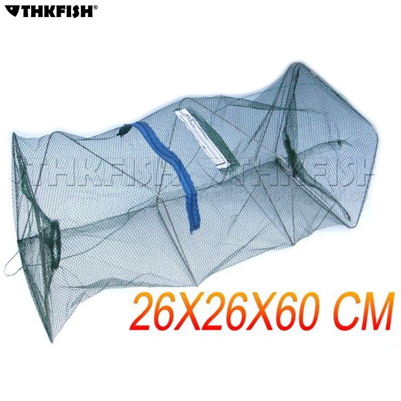 10 Pcs/Pack Foldable Fish Net Fishing Collapsible Crabfish Shrimp Lobster Crawfish Shrimp Trap Cast Keep Net Cage Fishing Tools