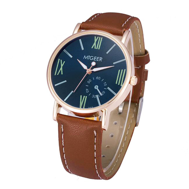 Luxury Fashion Crocodile Faux Leather Mens Analog Watch Wrist Watches Feature: faux leather analog wrist watch