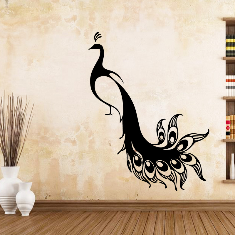 Home & Garden Peacock Flower Pattern Wall Stickers For Living Room Bed Room Modern Wall Sticker Home Decoration Accessoriesor Sticker Murals