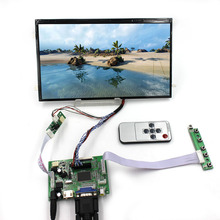 цена на HDMI VGA 2AV LCD Controller Board with remote 10.1inch B101XAN01.2 1366x768 AHVA LCD panel