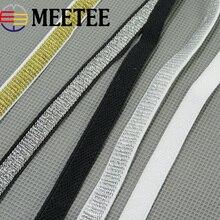 45Meters 1cm Gold Silver Nylon Webbings Fashion Elastic Band Ribbons Soft Belt Tension Webbing Waist Garment Craft
