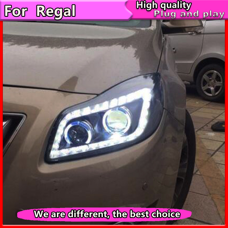 Car Styling Headlights for Buick Regal headlight 2009 2011 GS Style Opel Insignia head lamp led DRL front light Bi Xenon lens