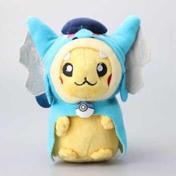 "6""  Pikachu Cosplay Magikarp Plush Toys Cartoon Keychains Stuffed Toys Kids Gift 10 Pcs/Lot"