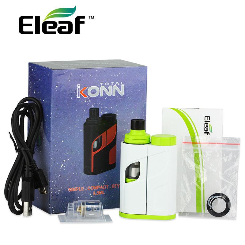 Original 50 W Eleaf iKonn Kit de vaporizador Total 50 W 5,5 ml Ello Mini XL tanque iKonn e-cigs iKonn KIT de Inicio Total No batería vs istick Pico