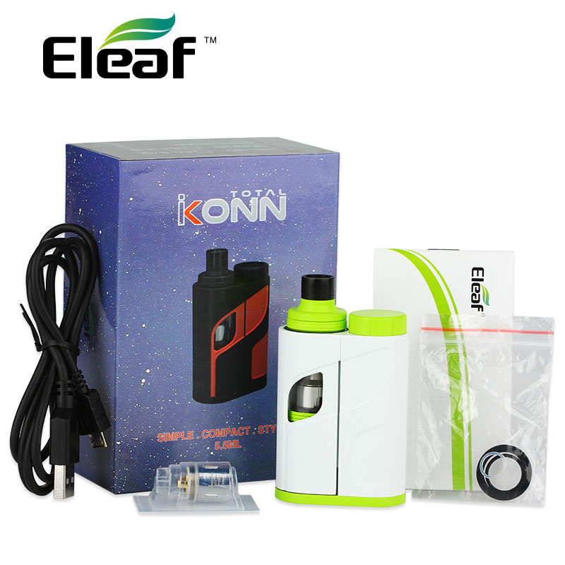 Originale 50 W Eleaf iKonn Totale Vape Kit 50 W 5.5 ml Ello Mini XL serbatoio iKonn E-Cigs iKonn Totale Start KIT Nessuna Batteria vs istick Pico
